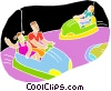 chalk style, at the amusement park Vector Clipart image