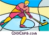Olympic sports, hockey Vector Clipart illustration
