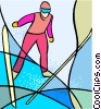 Olympic sports, ski jumping Vector Clip Art image