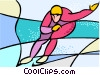 Vector Clip Art image  of a Olympic sports
