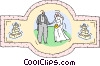Vector Clipart graphic  of a Wedding couple