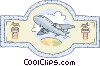 Vector Clip Art graphic  of an air transportation
