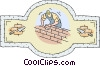Vector Clip Art picture  of a brick layer