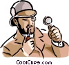 Vector Clipart graphic  of a investigator