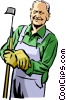 Vector Clipart illustration  of a farmer