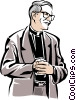Vector Clip Art picture  of a priest