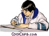 Vector Clip Art graphic  of a student