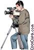 Vector Clipart image  of a cameraman