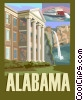 Alabama postcard design Vector Clipart image