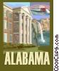 Alabama postcard design Vector Clipart picture