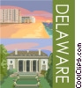 Delaware postcard design Vector Clipart graphic