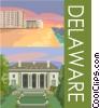 Vector Clip Art image  of a Delaware postcard design