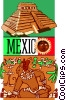 Vector Clip Art picture  of a Mexico postcard design