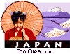 Japan postcard design Vector Clipart image