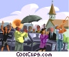 Vector Clip Art picture  of a funeral procession