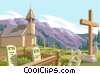 cemetery Vector Clip Art graphic