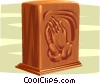 Vector Clipart image  of a funeral urn, memorial