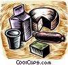 Vector Clip Art graphic  of a dairy products