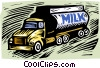 industry, milk truck Vector Clipart image