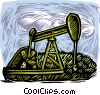 Vector Clip Art image  of a oil drilling