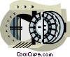 Vector Clipart image  of a bank vault