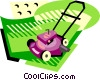 Vector Clip Art image  of a Lawn mower