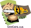 Vector Clip Art image  of a forestry industry