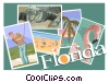 Vector Clip Art image  of a Florida postcard design