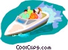 Travel and vacations, water sports Vector Clip Art picture