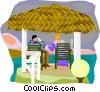 Vector Clipart image  of a summer vacation