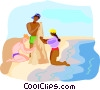 Vector Clipart illustration  of a travel and vacations