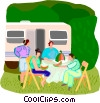 Vector Clipart illustration  of a summer vacation