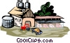 Vector Clipart illustration  of a farm scene