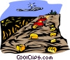 Vector Clip Art image  of a gathering the hay crop
