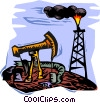 Vector Clip Art graphic  of a oil drilling