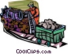 Vector Clip Art graphic  of a coal industry