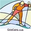Olympic sports, cross-country skiing Vector Clipart illustration