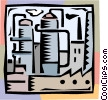 Vector Clipart picture  of a industrial factory