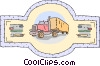 transport truck Vector Clipart graphic