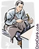Vector Clipart illustration  of a Shoe repair