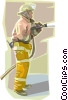 Vector Clip Art picture  of a fireman