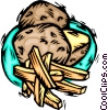 Vector Clip Art image  of a food