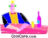 Vector Clipart picture  of a bar keeper