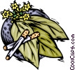 Vector Clipart graphic  of a tobacco crop