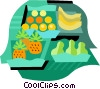 Vector Clip Art graphic  of a Fruit and vegetable market