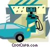 Vector Clipart illustration  of a gas station