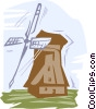 windmill Vector Clipart graphic