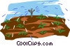 irrigation, watering crops Vector Clip Art picture