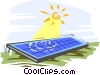 Vector Clipart graphic  of a solar power