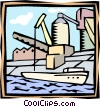 Vector Clipart image  of a marine shipping industry